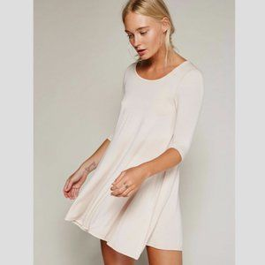 FREE PEOPLE Jacqueline Tunic in Pearl - XS